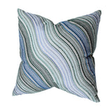 Blue & Green Wave Stitched Pillow