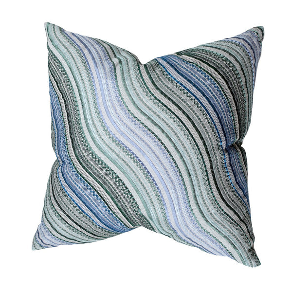 Blue Amp Green Wave Stitched Pillow Pieces