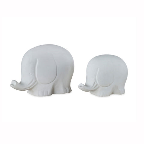White Gesso Elephants