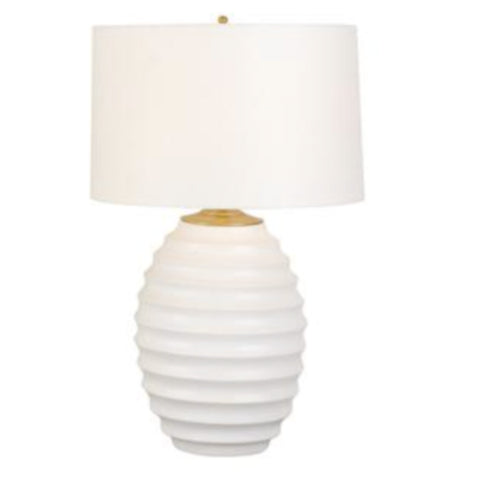 WHITE RIBBED LAMP