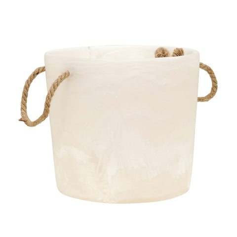 White Swirl Ice Bucket