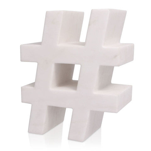 Kelly Wearstler White Marble Hashtag