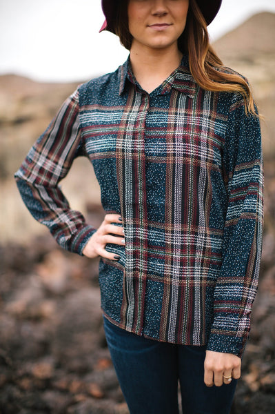 Kaycee Plaid Top