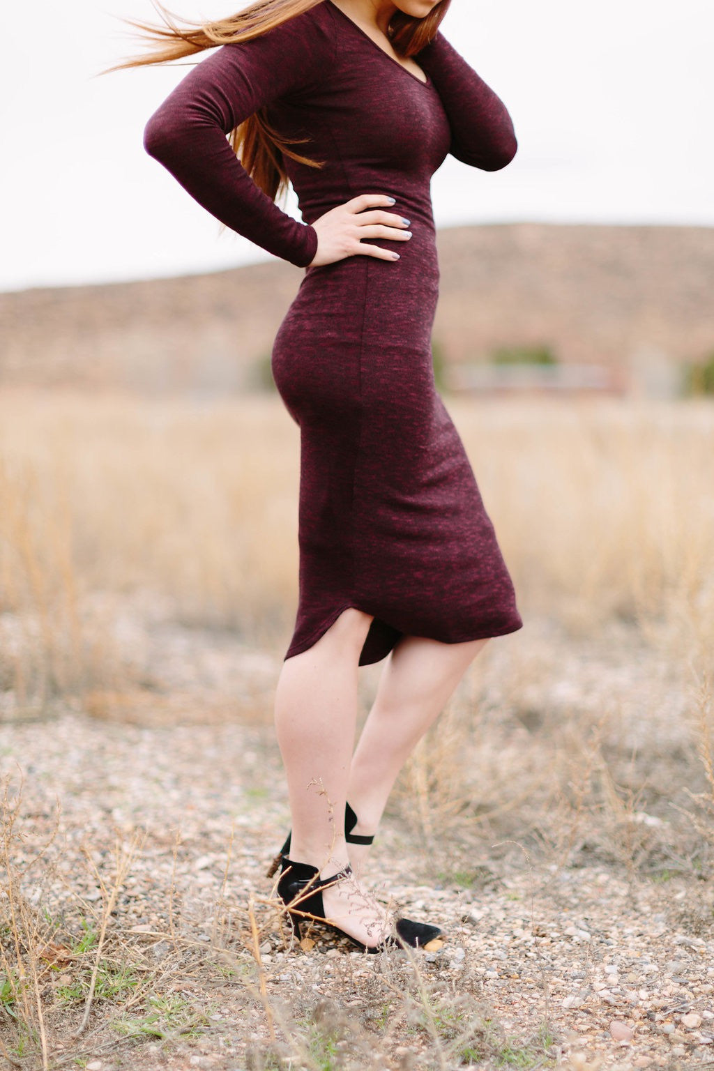 Jamie Dress (Burgundy)