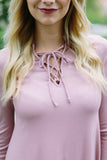 Rose Lace up Top