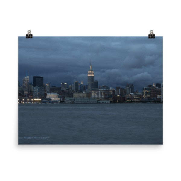 NYC Blue Skyline - THREEKEYSBRAND