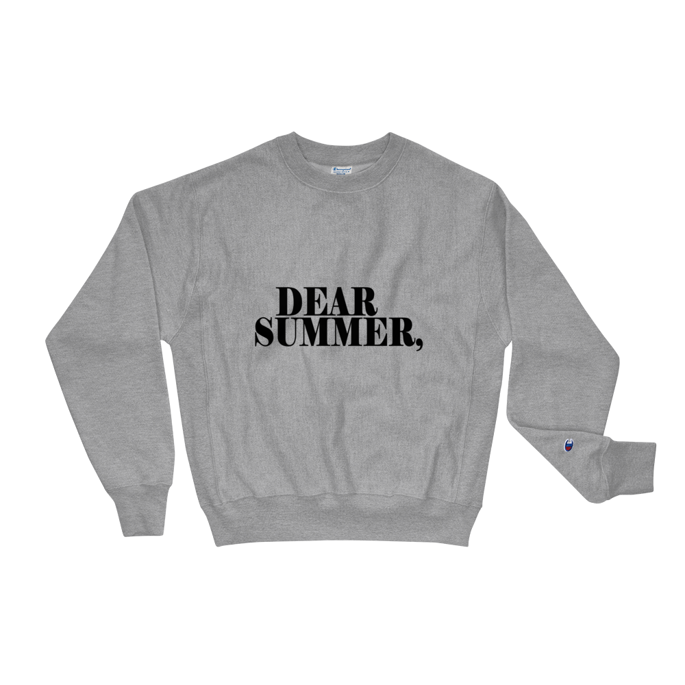 DEAR SUMMER BLACK & GRAY Champion Sweatshirt - THREEKEYSBRAND