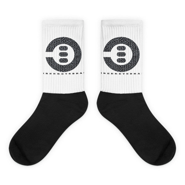 Black foot socks - THREEKEYSBRAND