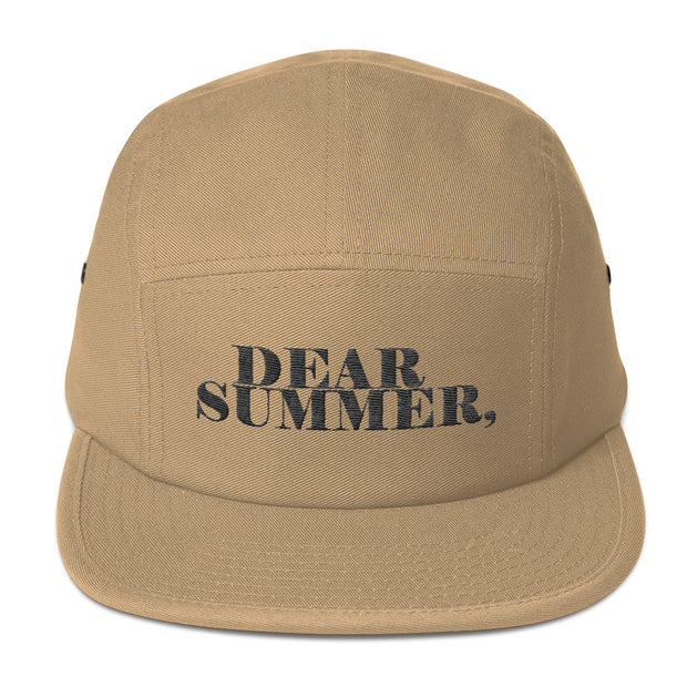 DEAR SUMMER, TAN&BLACK Five Panel Cap - THREEKEYSBRAND