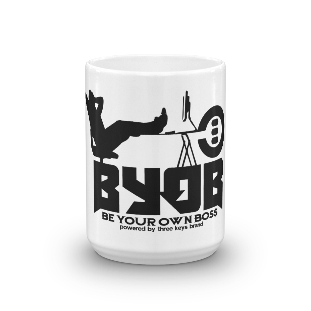 BYOB BE YOUR OWN BOSS MUG - THREEKEYSBRAND