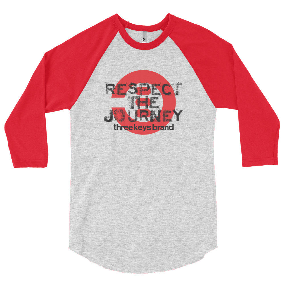 RESPECT THE JOURNEY RED-LONG SLEEVE - THREEKEYSBRAND
