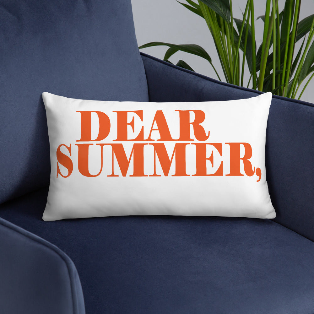 DEAR SUMMER, ORANGE Basic Pillow