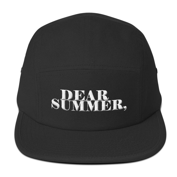 DEAR SUMMER, BLACK&WHITE Five Panel Cap - THREEKEYSBRAND