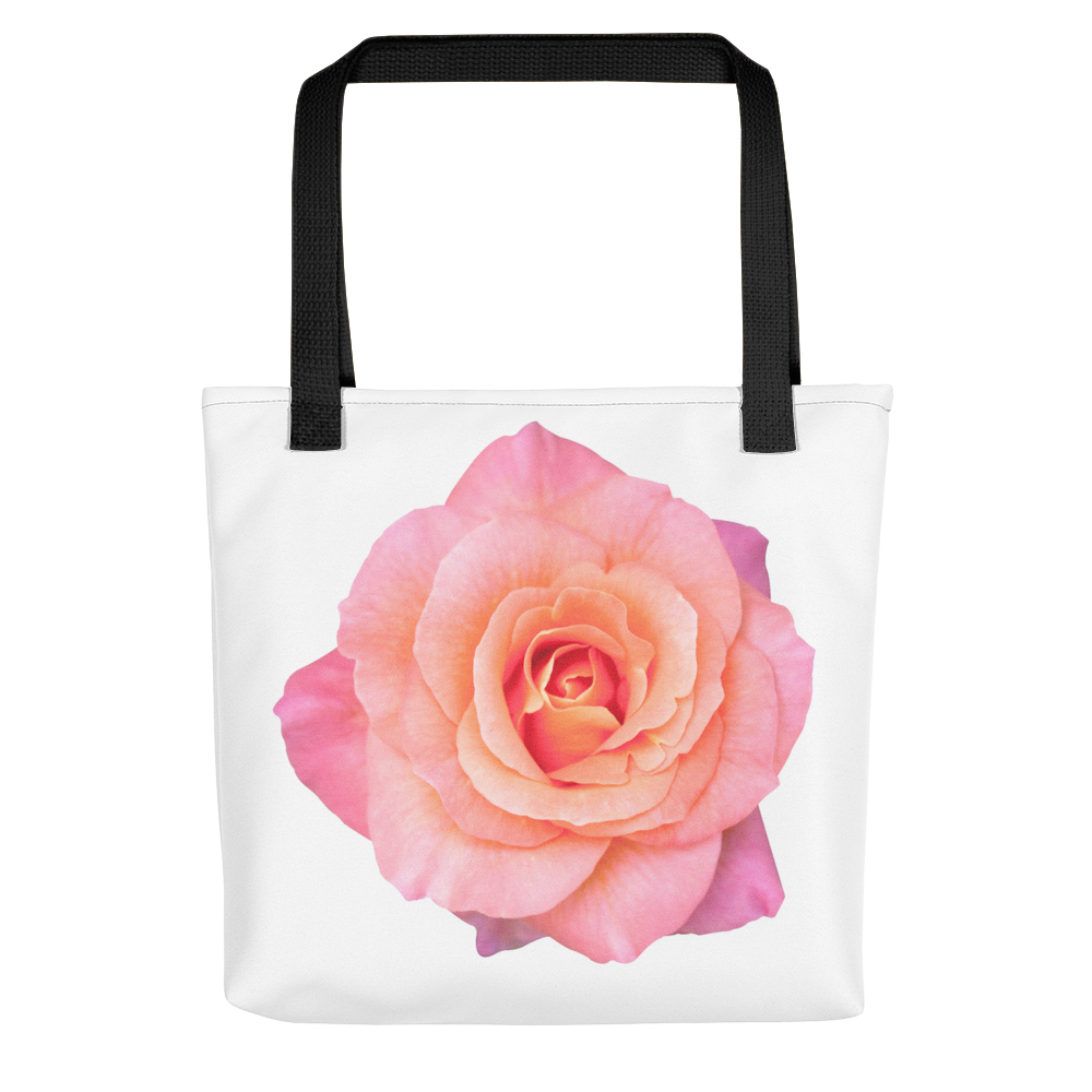 THE PINK ROSE TOTE BAG - THREEKEYSBRAND