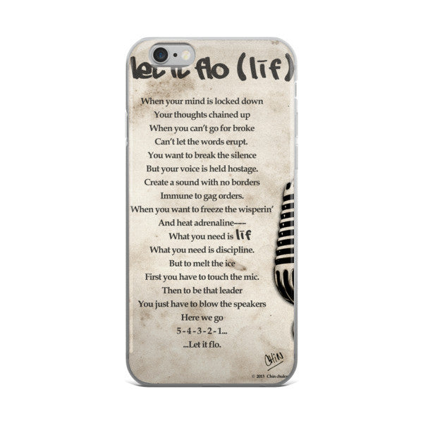 LETITFLO POETRY IPHONE 5/5S/SE, 6/6S PLUS PHONE case