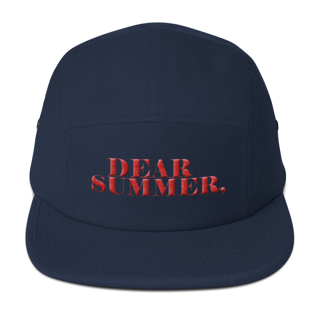 DEAR SUMMER, BLUE&RED Five Panel Cap - THREEKEYSBRAND