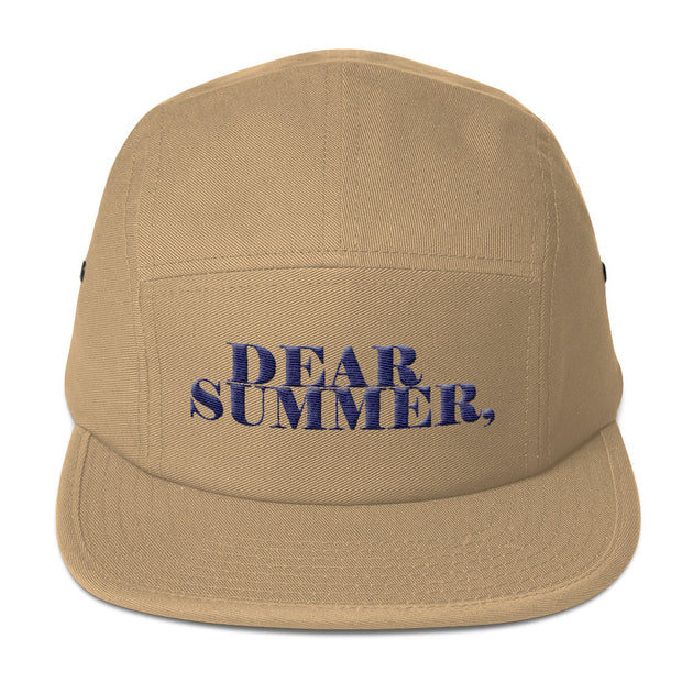 DEAR SUMMER, TAN&BLUE Five Panel Cap - THREEKEYSBRAND