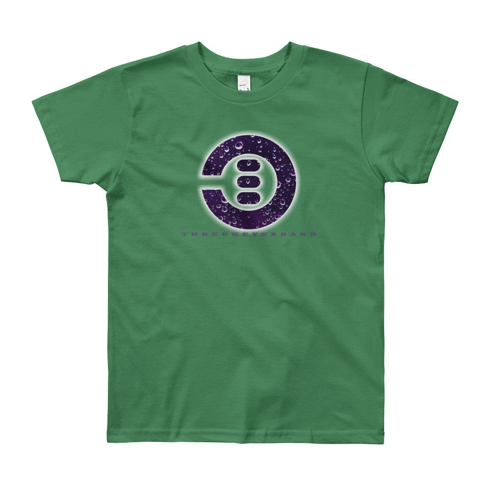 Purple Rain 3Keys logo Kids t shirt - THREEKEYSBRAND
