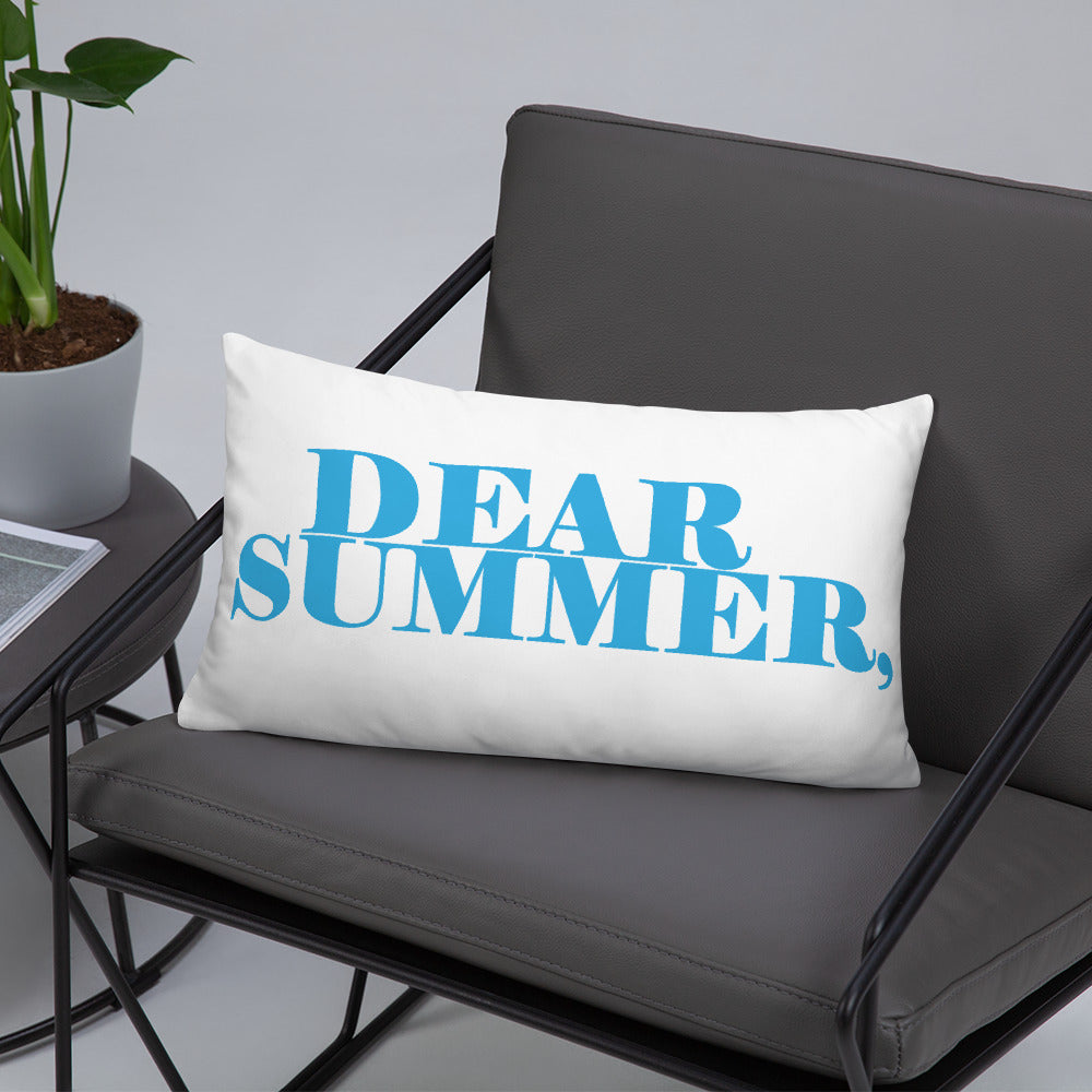 DEAR SUMMER LIGHT BLUE Basic Pillow - THREEKEYSBRAND