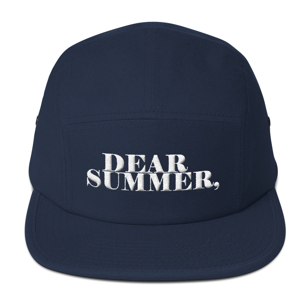 DEAR SUMMER, BLUE&WHITE Five Panel Cap - THREEKEYSBRAND