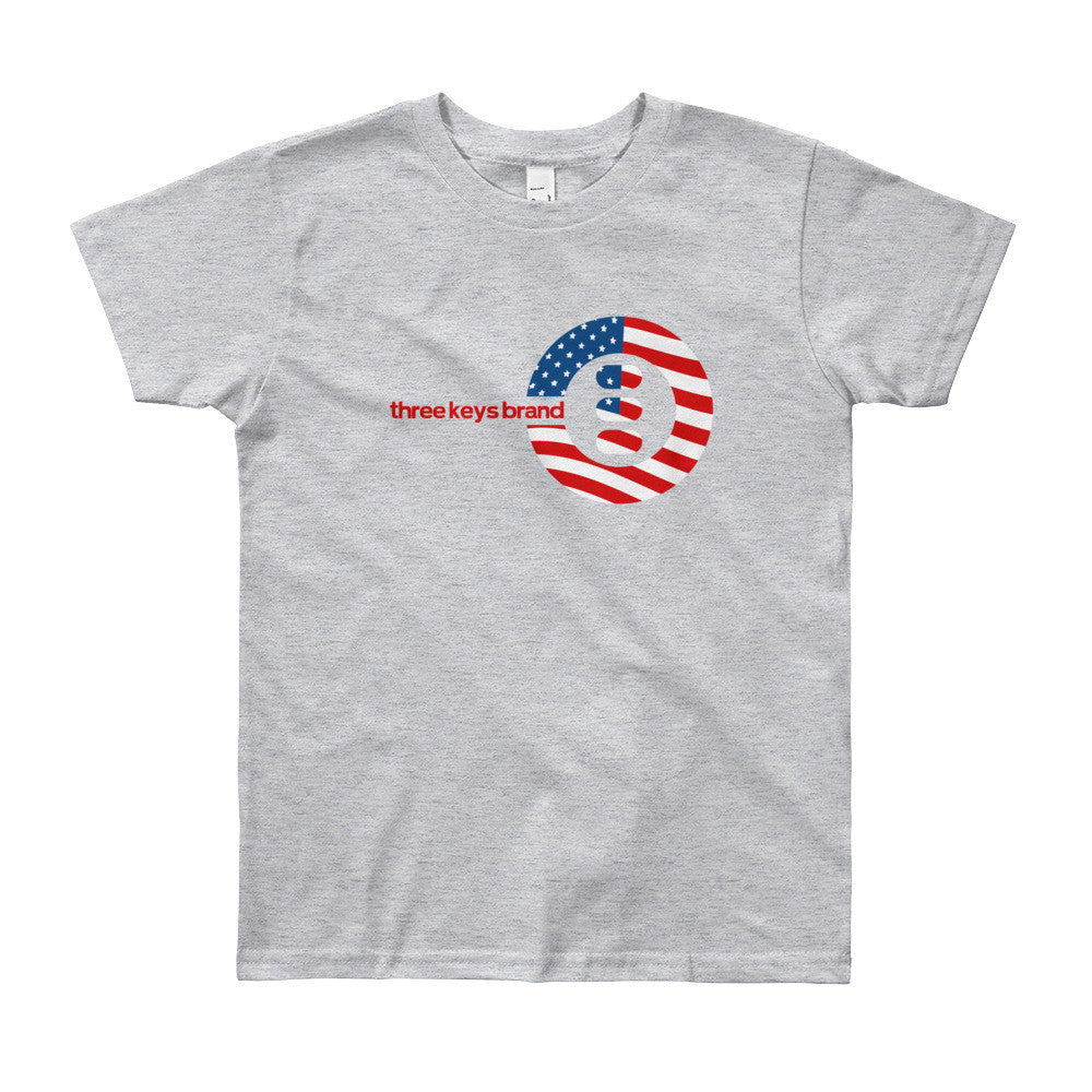 USA Youth Short Sleeve T-Shirt - THREEKEYSBRAND