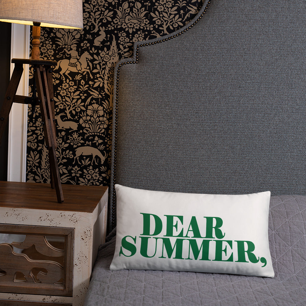 DEAR SUMMER, HUNTER GREEN Basic Pillow