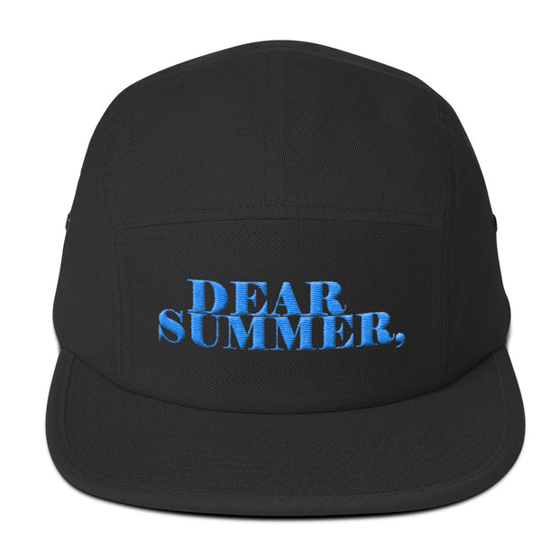 DEAR SUMMER BLACK&SKY BLUE Five Panel Cap - THREEKEYSBRAND