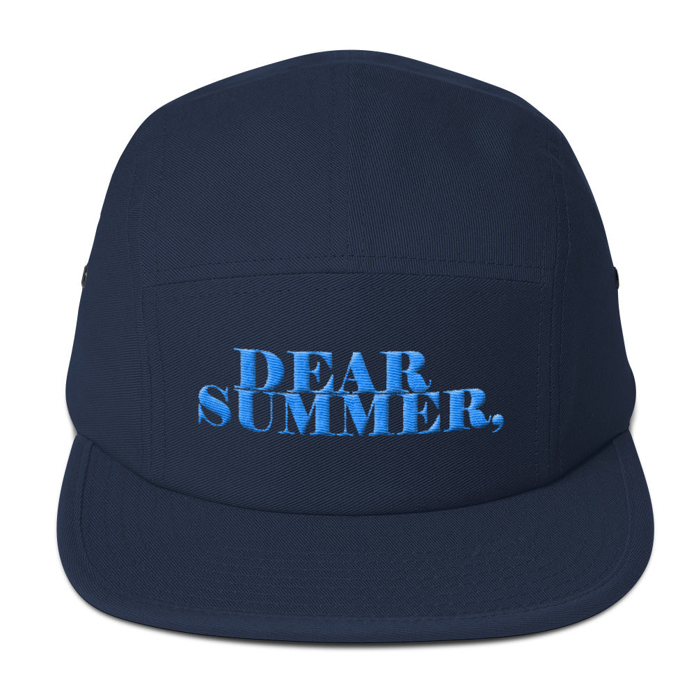 DEAR SUMMER BLUE&SKY BLUE Five Panel Cap