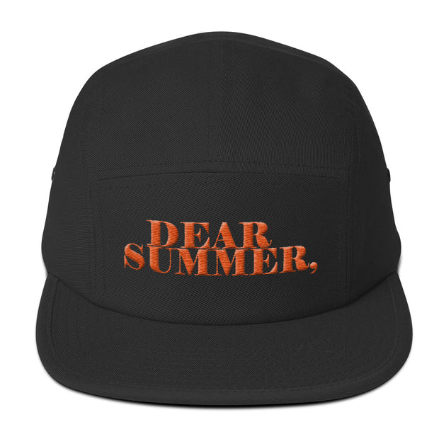 DEAR SUMMER BLACK&ORANGE Five Panel Cap - THREEKEYSBRAND