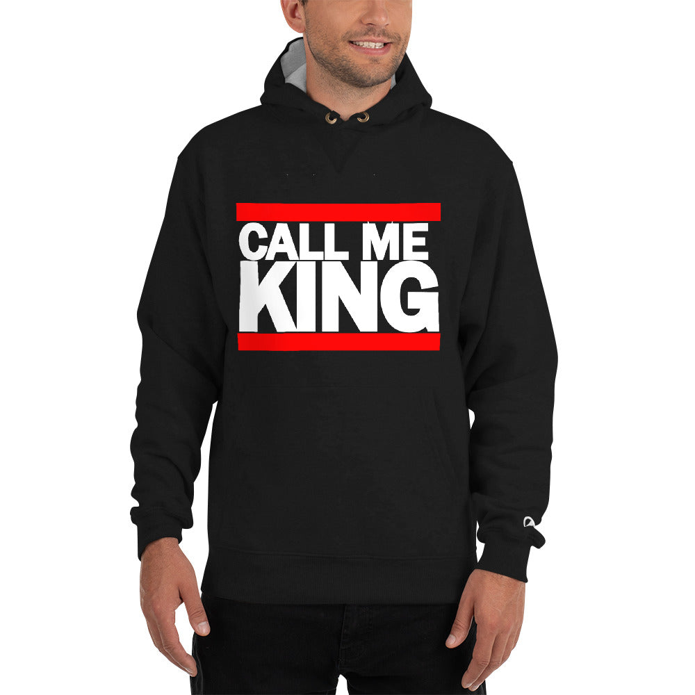 CALL ME KING BLACK Champion Hoodie - THREEKEYSBRAND
