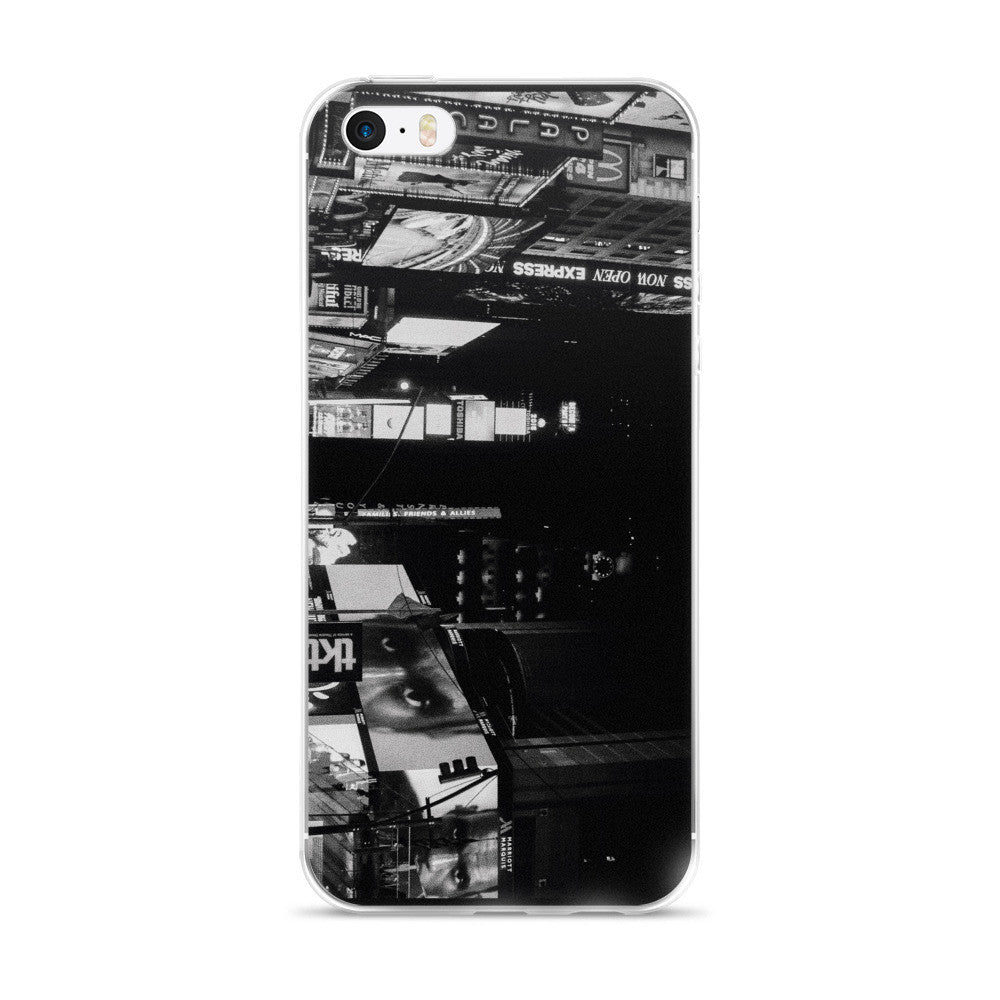 ON THE PHONE IN TIMESSQUARE Apple iPHONE 5/5S/SE, 6/6S PLUS PHONE CASE - THREEKEYSBRAND