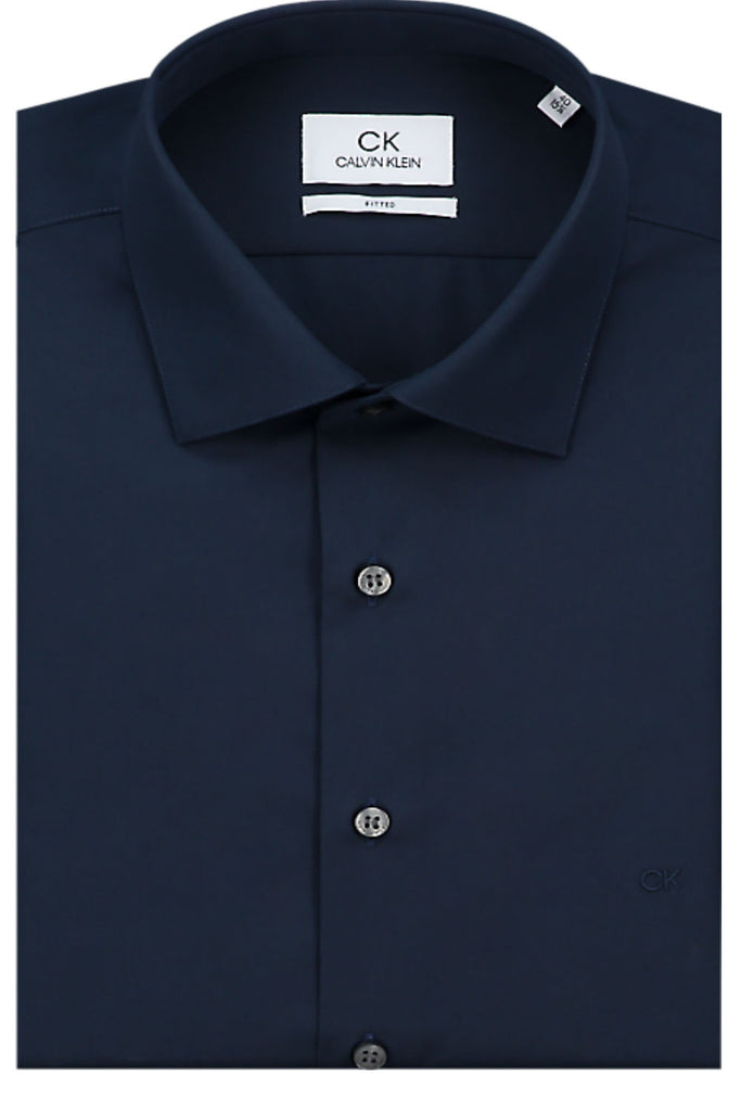 Poplin stretch shirt - Navy