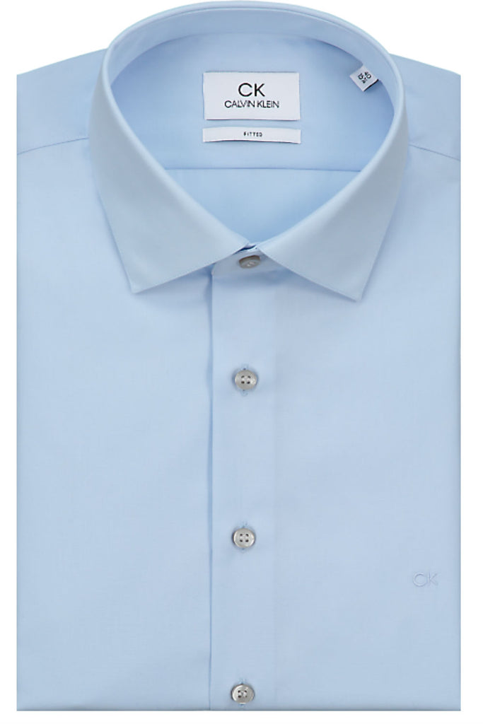 Poplin Stretch shirt - Light Blue