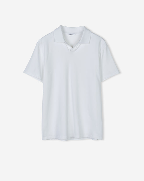 Soft Lycra Polo T-shirt - Wit