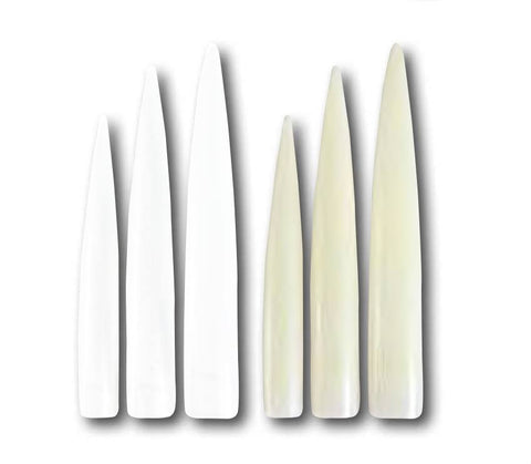Tips - Designer Stiletto Natural (12 pieces)
