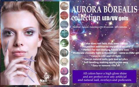 Color LED/UV Gels - Aurora Borealis Collection