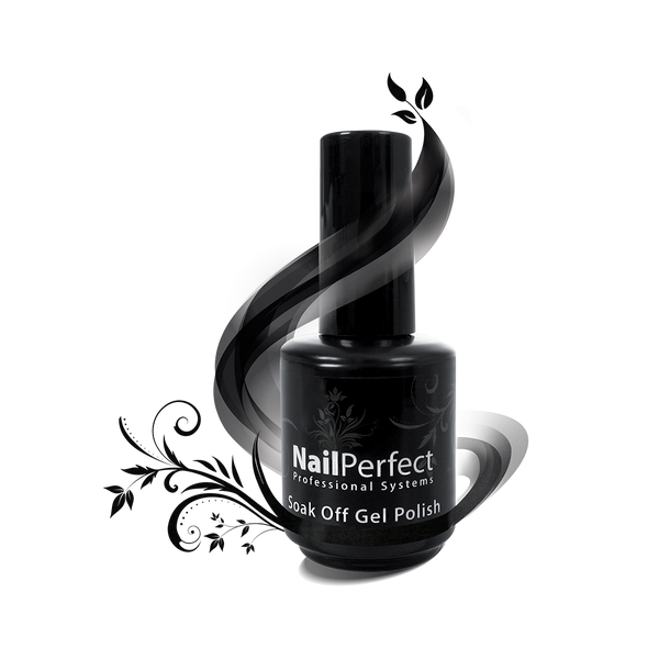 Soak Off Gel Polish - #018 Off Duty (Black)