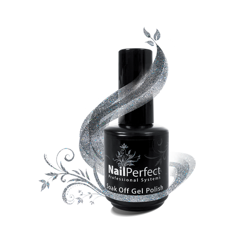 Soak Off Gel Polish - #037 Silver Flash