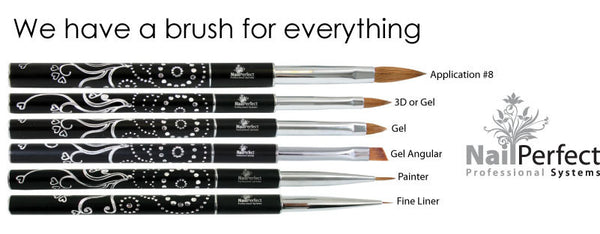 Design Brush Long. Gel or 3D - Bling Handle
