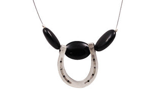 Collier en pierre avec fer à cheval - (Fox Run FRJH4)