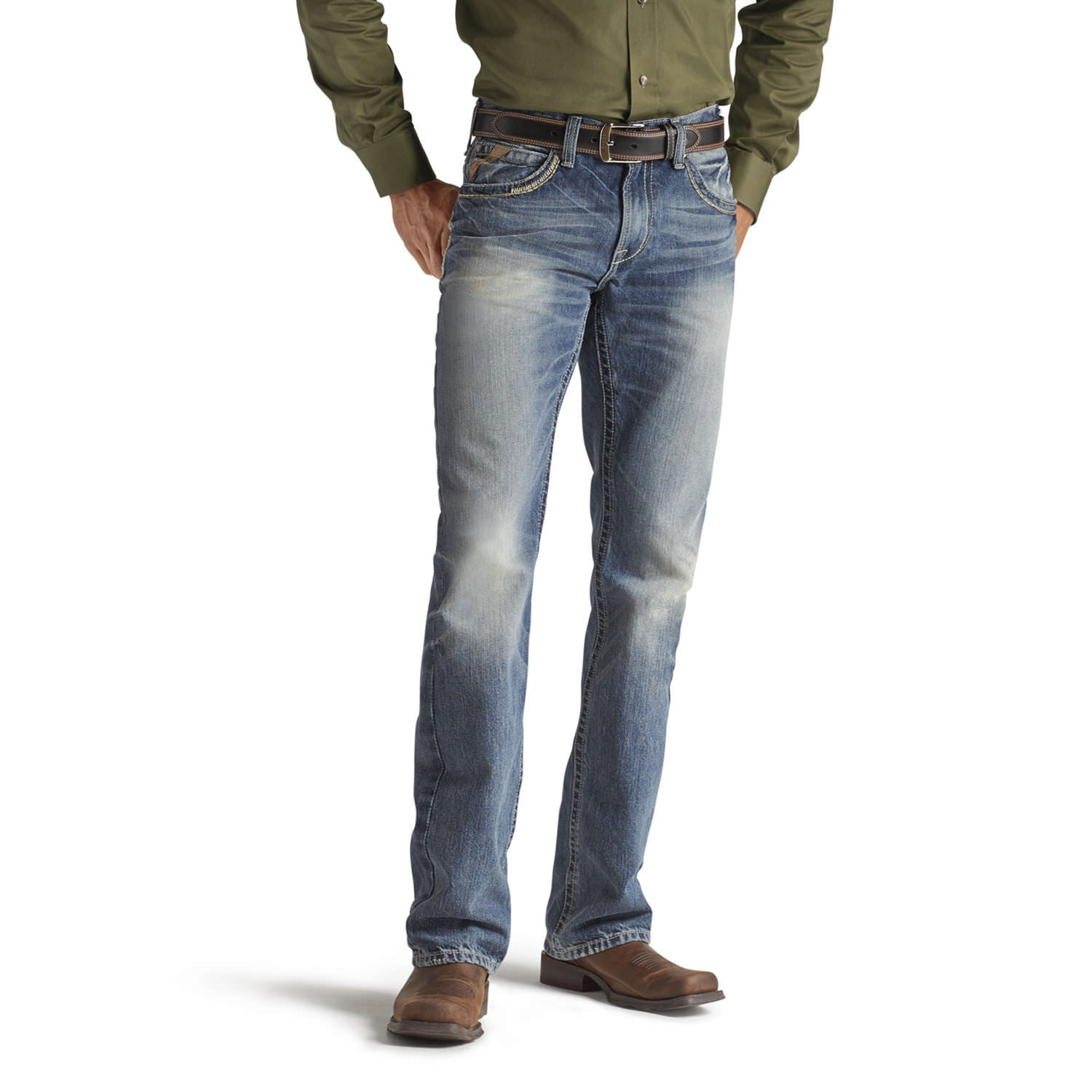 Jeans M5 Low Rise Straight Gambler - homme (Ariat 10012703)