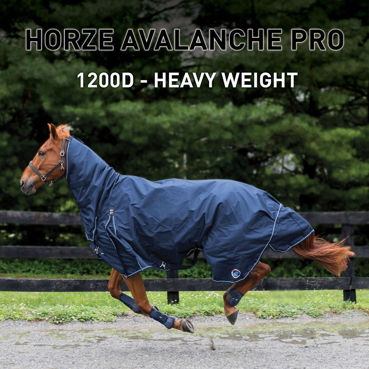 Couverture imperméable et doublée Supreme Avalanche 1200D Heavy Weight Combo Turnout - (Horze 24566)