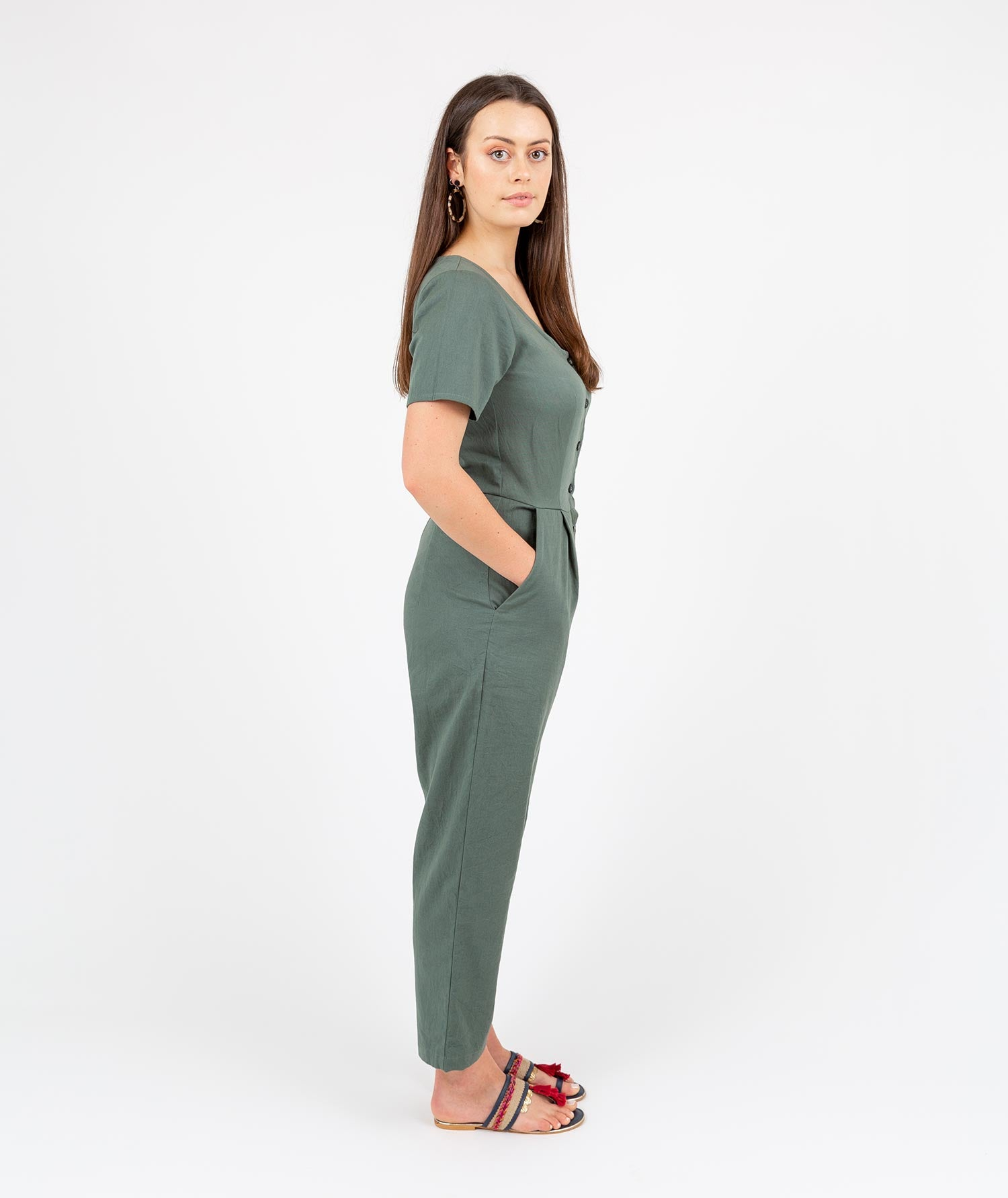 Aviator Jumpsuit Green