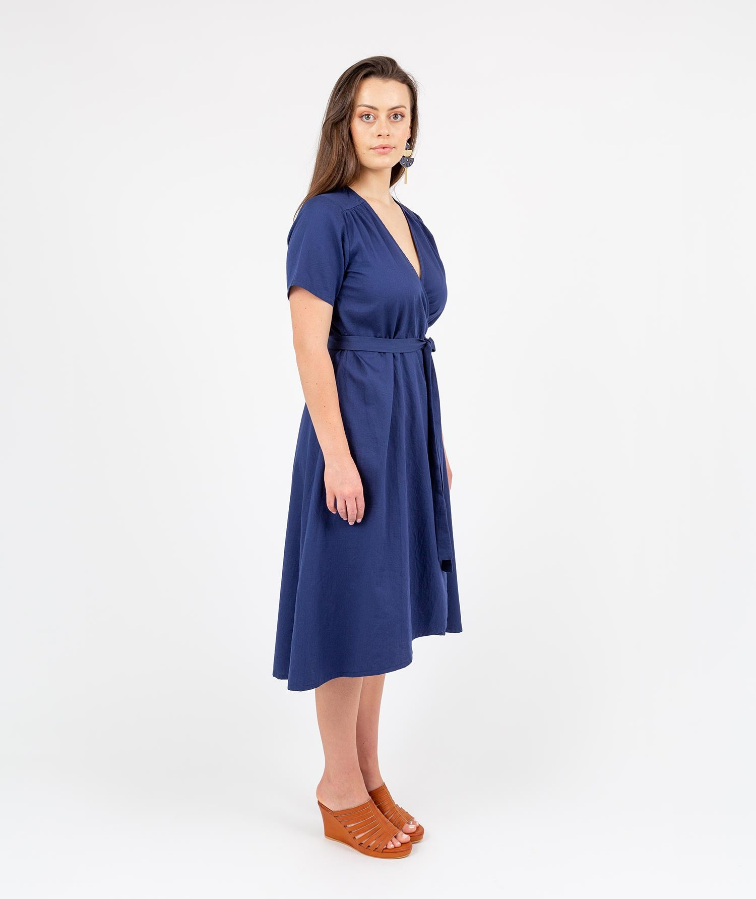 Fusion Tour Wrap Dress Navy by Holi Boli