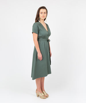 Fusion Tour Wrap Dress Green