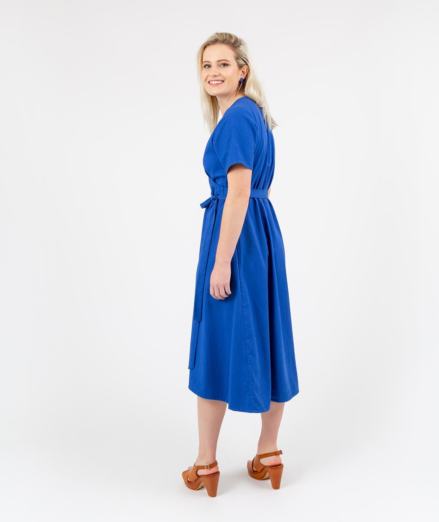 Fusion Tour Wrap Dress Blue