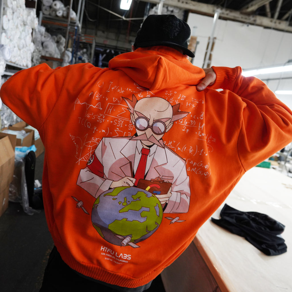 Mad Scientist Hoodie - Orange