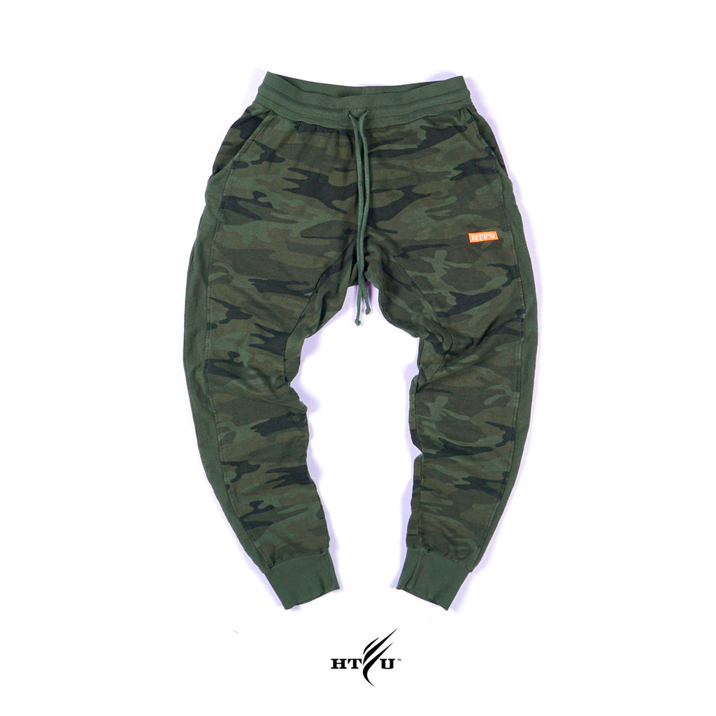 Box Logo Joggers - Green Camo