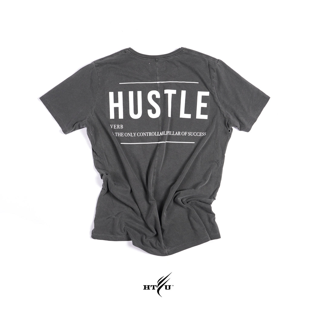 Hustle Tee - Charcoal Grey
