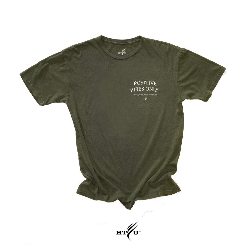 Positive Vibes - Military Green